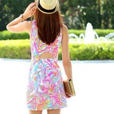Via @Courtneyannaber Instagram- Lilly Pulitzer Whiting Cut-Out Shift Dress