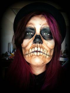 Skull makeup. Find me on IG-Kim Whitesel