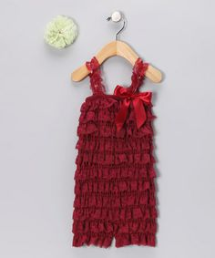 Cranberry Ruffle Romper Set - Infant & Toddler by Head over Heels on #zulily