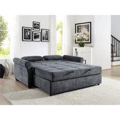 Serta Haiden Queen Sofa Bed, Gray - Walmart.com - Walmart.com Best Sleeper Sofa, Best Sofa, Sectional Sleeper Sofa, Most Comfortable Couch, Small Sleeper Sofa, Sectional Couches, Queen Size Sofa Bed, Queen Sofa Sleeper, Tela