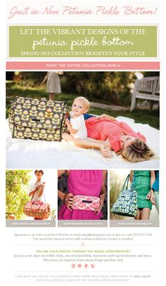 New Petunia Pickle Bottom has arrived to @LaylaGrayce! #laylagrayce #ppb #newsletter