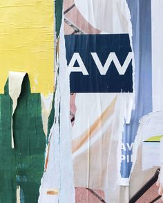 <p>Inspired by torn posters covering New York streets and subways, Aaron Robbs and Alex Proba's mural artwork is also a beautiful reference to the lacerated poster design artistic movement, launched b