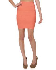 Orange bandage skirt