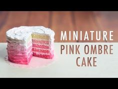 PINK OMBRE CAKE: polymer clay tutorial + giveaway winner - YouTube