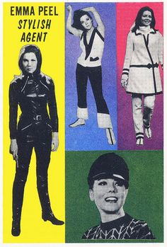 theswinginsixties: Emma Peel - Stylish Agent (Diana Rigg 'The Avengers', Emma Peel, Spy Shows, Uk Tv Shows, The Avengers, Swinging London, James Bond, Diana Riggs, Dame Diana Rigg, Mahalia Jackson