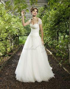 Ball Gown Sweetheart Hand-Beaded Bodice Wedding Dress