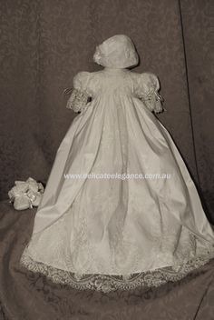 4256: Girls' Ivory Lace Christening Gown