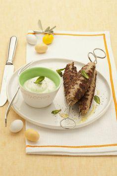 Polpette kofta con salsa di yogurt