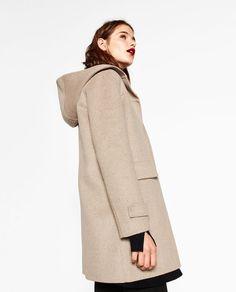Mantel beige mit kapuze