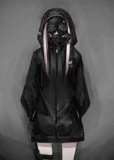 Image about girl in anime mask by zillion on We Heart It Fanarts Anime, Anime Characters, Manga Anime, Evil Anime, Gas Mask Art, Masks Art, Gas Mask Drawing, Gas Masks, Anime Negra