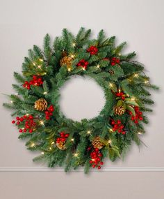 Classic Holiday Christmas Wreath, $90; treeclassics.com   - ELLEDecor.com