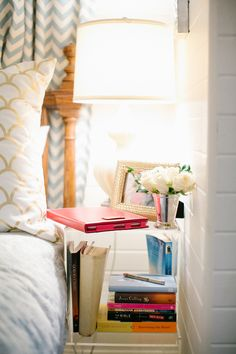 Cat Cantrell's Houston Garage Apartment Tour #theeverygirl #nightstand #styling