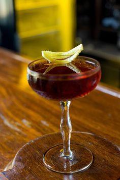 Manhattan com bourbon