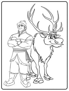 Kartinki Po Zaprosu Kristoff Holodnoe Serdce Kartinki Raskraska Disney Coloring Pages Coloring Pages Humanoid Sketch