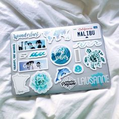 Laptop sticker collage Macbook pro stickers certainly are a fantastic approach to produce your computer look Cute Laptop Stickers, Macbook Stickers, Diy Stickers, Macbook Decal, Phone Stickers, Sticker Ideas, Coque Macbook, Macbook Case, Macbook Pro