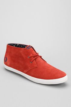 Fred Perry Byron Mid-Top Suede Shoe #urbanoutfitters