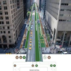Park Avenue Corridor, looking south from Grand Central Terminal. Image: WXY architecture + urban design.