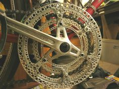Make Your Own Drillium! (Drilled Bike Components) – Famous Last Words Vintage Bicycle Parts, Bicycle Types, Vintage Cycles, Cool Bicycles, Cool Bikes, Bicycle Garage, Bike Details, Push Bikes, Pedal