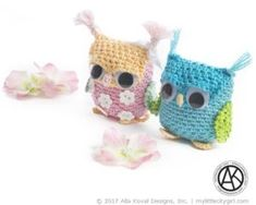 Alla of Alla Koval Designs has done it again with darling Sova Amigurumi, Keychain, Bag Accessory for Kids & Adult. Made with Omega's Perle they are quite easy to make, she's amazing!