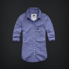 SHELLEY BEACH $49.50 - Blue Micro Check 100% Cotton hab poplin