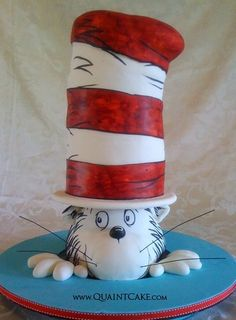Would you believe that this is a cake? Dr Seuss Cat in the Hat birthday cake.