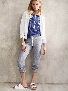 Marled Skinny Banded Pant - French Terry - Victoria's Secret