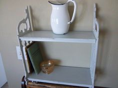 Vintage Wooden Wall Hung Shelf by CharsVintageShop on Etsy, $38.00