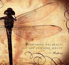 Everything has beauty but not everyonr sees it, Confucious.