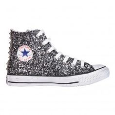 Chuck Taylor All Star Glitter Pure Silver White Black  f1def2c08