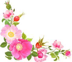 Flower Boarders, Flower Frame, Flower Art, Art Floral, Borders For Paper, Borders And Frames, Clip Art, Pink Roses, Pink Flowers