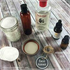 simple DIY facial toner reduces redness, fights wrinkles and age spots, shrinks pores, and banishes acne. Great for all skin types. {homemade facial toner with essential oils} Homemade Facials, Homemade Skin Care, Diy Skin Care, Homemade Beauty, Homemade Products, Toner For Face, Facial Toner, Facial Tips, Facial Serum