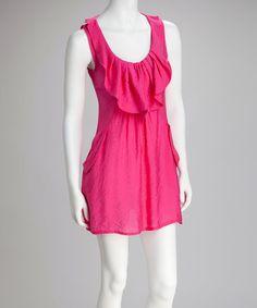 Candy Pink Sleeveless Shift Dress #zulily #zulilyfinds