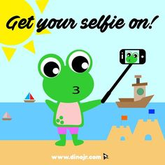 It's selfie time! Happy Selfie Day!!  #dinojrstudios #nationalselfieday #selfies #holidays #kids