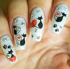 Black cat nail art water decals only 99p at www.charliesnailart.co.uk  Worldwide shipping   #nails #naildesigns #nailart #nails2inspire #nailaddict #nailedit #beauty #fashion #nailswag