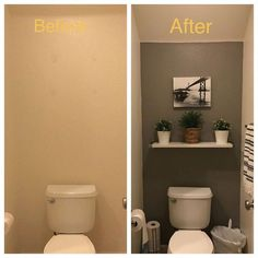 Half Bathroom Ideas Small Decor Powder Rooms the Conspiracy apikhome com is part of Small half bathrooms - Half Bathroom Decor, Half Bathroom Remodel, Budget Bathroom, Bathroom Renovations, Rental Bathroom, Attic Bathroom, Bathroom Makeovers, Accent Wall In Bathroom, Ikea Hack Bathroom