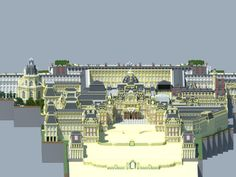 Minecraft Creations, Minecraft Projects, Minecraft Kingdom, Compound Wall Design, Minecraft Tutorial, Palace Of Versailles, World Of Fantasy, Le Palais, Palace Hotel