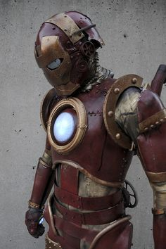 Steampunk Iron Man. I saw this guy in person at the New York Comicon in 2010. Looked amazing in person, too.