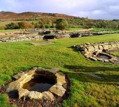 Vindolanda Roman fort, near Hadrian's Wall, Northumberland, England.