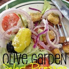 Olive Garden Salad Dressing ½ C. mayonnaise ⅓ C. white vinegar 1 tsp. vegetable oil 2 Tbsp. corn syrup 2 Tbsp. Parmesan cheese 2 Tbsp. Romano cheese ¼ tsp. garlic salt ½ tsp. Italian seasoning ½ tsp. parsley flakes 1 Tbsp. lemon juice.