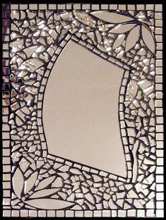 Mosaic mirror, Specchio by Virginia Zanotti Mirror Mosaic, Mirror Art, Mosaic Art, Mosaic Glass, Mosaic Tiles, Glass Art, Mirror Tiles, Stained Glass, Mirror Glass
