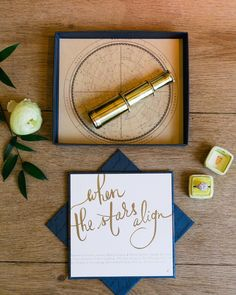 When the stars align... what a gorgeous theme for a wedding. Celestial elements are such an elegant detail to incorporate into your day. We loved working with @ferriswheelpress on this stunning invitation set that included a mini telescope to stargaze with your special someone. Photo by @corinavphotography As seen in @Wedluxe magazine.     #cynthiamartynevents #torontoweddingplanner #weddingstyling #invitation by cynthiamartyn