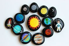 Etsy Transaction - Solar System Story Stones and Painted Rocks / Outer Space Stones