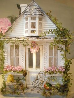 Miniature rose cottage