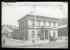 Bank of Australia, cnr Brown and Hunter Sts. Newcastle Town, Library University, Banks Building, My Town, Beautiful Buildings, Postcards, Sydney, Transportation, Coastal