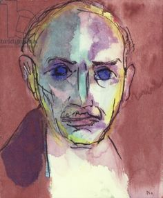 1917 SELF PORTRAIT, Emile Nolde (German~Danish 1867~1956) | He was one of the first Expressionists, a member of Die Brücke.