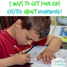 Today I am sharing 5 ways to get your kids excited about homework.   Why?  Because now that the excitement of the first day of school has passed and the harsh reality of the daily routine has taken effect, sometimes it can be tough for kids to be motivated to tackle homework. Sure, it gets done,...Read More »