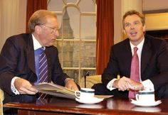 Former Prime Minister Tony Blair appears alongside Sir David on Breakfast With Frost