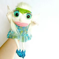 Cute elf  Puppet with big moveable mouth | puppets • hand puppets • finger puppets •kids gifts • kids toys • kids games • kids ideas • muppets • bibabo • puppet theater • puppet diy • puppets for kids to make • muppets funny • muppets party • muppet quotes • muppets birthday party | ★ bozhenafelt.etsy.com