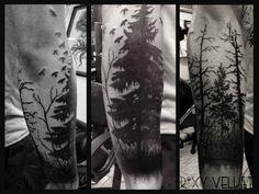 Half sleeve tattoo. Forest By Roxy StockholmInk Tattoo Studio Stockholm, Sweden