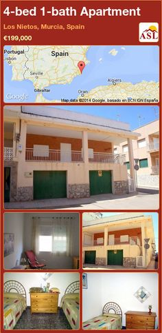 Apartment for Sale in Los Nietos, Murcia, Spain with 4 bedrooms, 1 bathroom - A Spanish Life Apartments For Sale, Murcia Spain, Bedroom Corner, How To Level Ground, Terrace, Garage Doors, Lounge, Patio